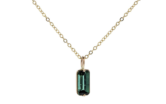.98 Carat Tourmaline Necklace in Yellow Gold