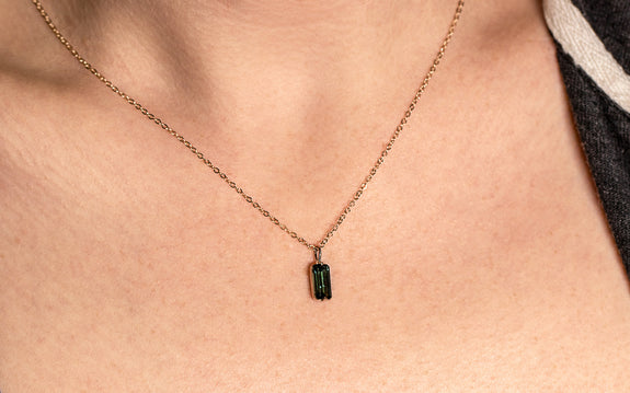 .98ct Tourmaline Necklace front view on logo