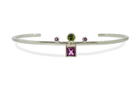 Green and Pink Tourmaline Bracelet video image