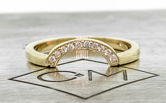 CM Curved Shadow Band with White Diamonds front view