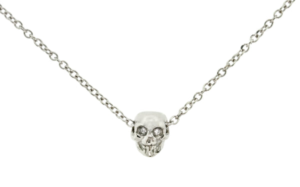 Diamond Skull Necklace rotating view
