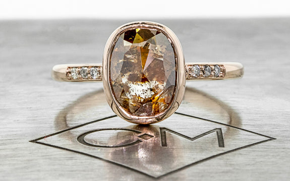 2.83ct Cognac Diamond Ring front view
