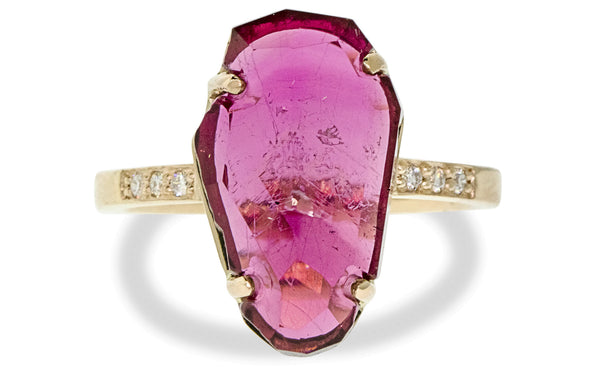 5.19ct Pink Tourmaline Ring rotating view