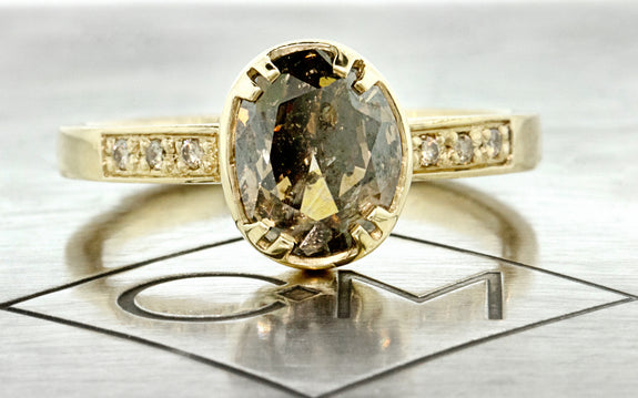 2.17ct Cocoa Diamond Ring front view