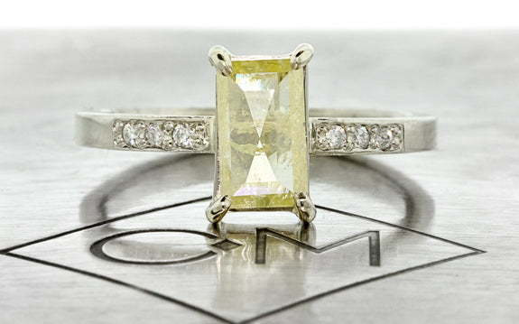 .92ct Vibrant Yellow Diamond Ring front view