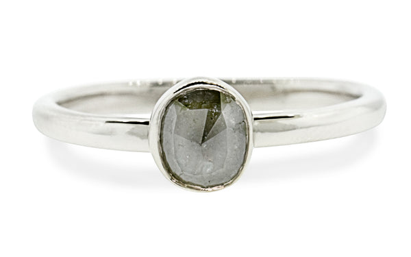 .58 Carat Gray Diamond Ring in White Gold