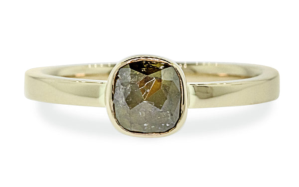 .72 Carat Rich Brown Diamond Ring in Yellow Gold