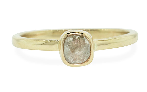 .49 Carat Icy White Diamond Ring in Yellow Gold