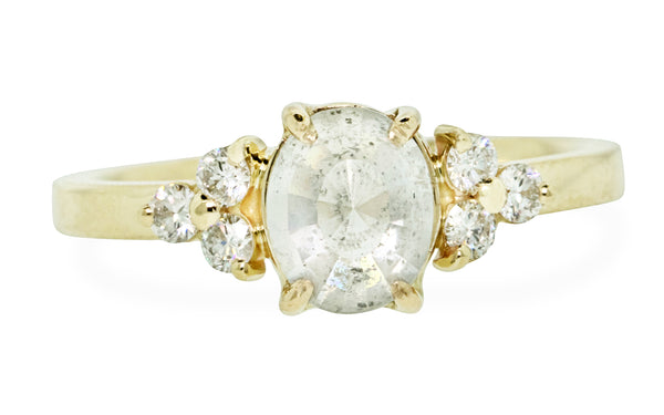1.27 Carat Glowing White Diamond Ring in Yellow Gold