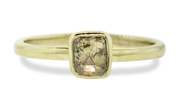 .47 Carat Rustic Champagne Diamond Ring in Yellow Gold