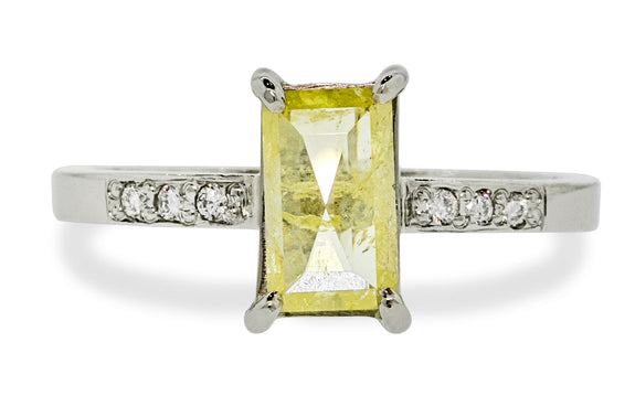 .92ct Vibrant Yellow Diamond Ring rotating view