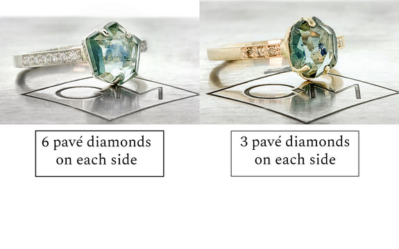 Examples of prong and inlaid prong setting styles