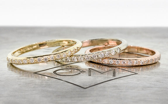 16 diamond wedding bands on logo