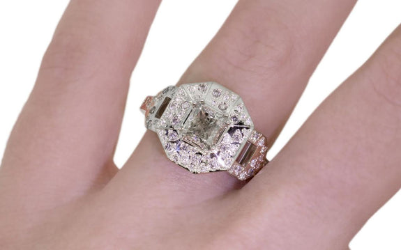 1.15 Champagne Diamond Ring side view