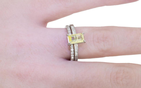 .92ct Vibrant Yellow Diamond Ring side view