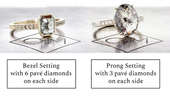 six or three diamond accent setting example
