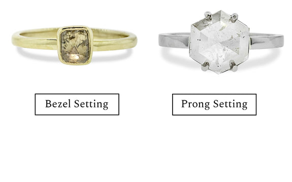 bezel or prong setting example