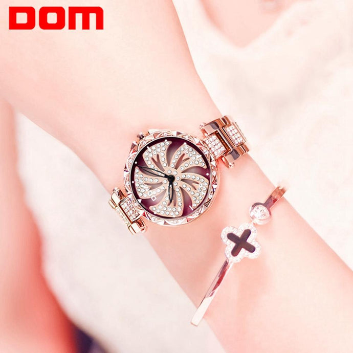 DOM watch femme flower edition.