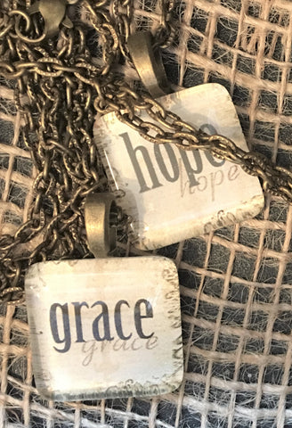 Hope and Grace Pendant Necklaces from Art 2 Heart Gift Shop in Hamel MN