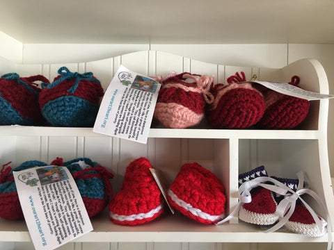 Crocheted Booties for Baby from Art2Heart in Hamel MN