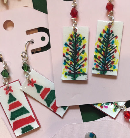 Joyful dangly Christmas earrings from Art 2 Heart Gift Shop in Hamel MN
