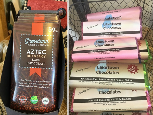 Chocolate Candy Bars available from Art 2 Heart Gift Shop in Hamel MN