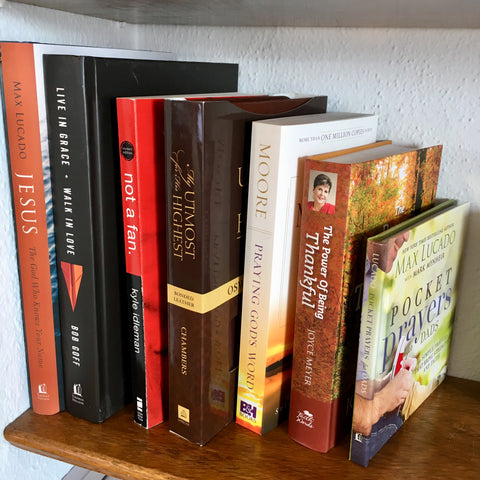 Chrisitan books are available at Art 2 Heart in Hamel MN