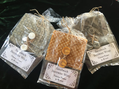 Re-Usable Beeswax Sandwich Wraps from Art 2 Heart in Hamel MN