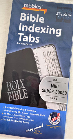 Bible Index Tabs available for online purchase from Art 2 Heart Gift Shop in Hamel MN