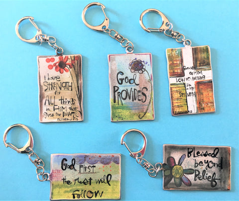 Blessing Message Key Rings from Art 2 Heart Gift Shop in Hamel MN