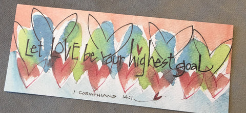 Inspirational book mark from Art 2 Heart Gift Shop in Hamel MN