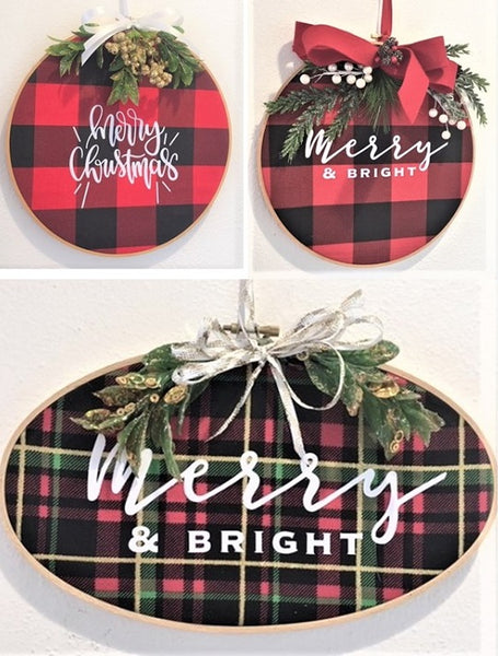 buffalo plaid hoop wreath from Art 2 Heart Gift Shop in Hamel MN
