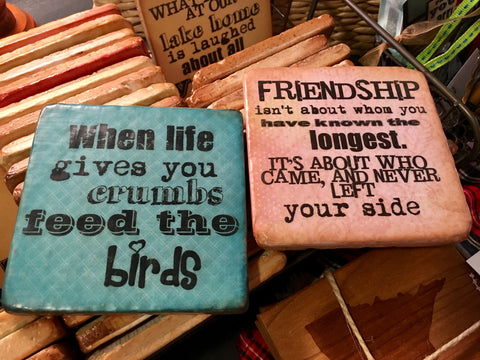 Cute Word Coasters from Art 2 Heart Gift Shop in Hamel MN