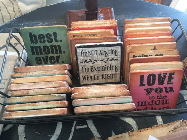 Wry Coasters from Art 2 Heart Gift Shop in Hamel MN