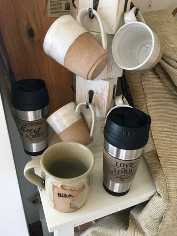 Coffee mugs available from Art 2 Heart Gift Shop in Hamel MNB