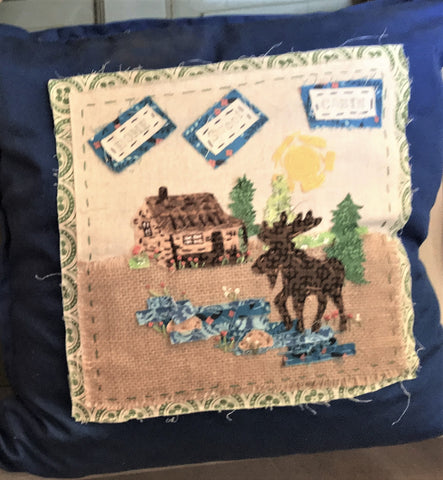 Moose and Cabin Toss Pillow 20x20 at Art 2 Heart in Hamel MN