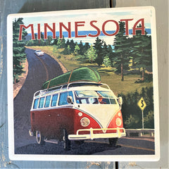Minnesota 'on the road' coaster from Art 2 Heart Gift Shop in Hamel MN
