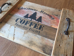 Make this Cozy  Rustic Coffee Tray for Christmas at Wonderfully Made Studio
