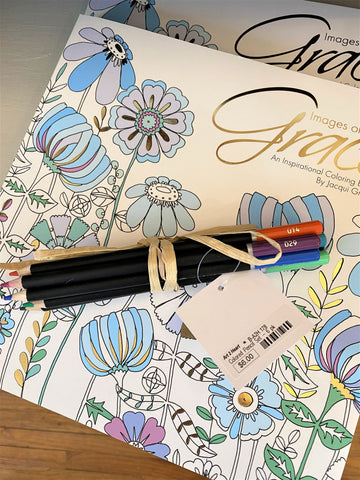 Inspirational Coloring Book and Colored Pencils from Art 2 Heart Gift Shop in Hamel MN
