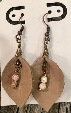 Cork and Bead Dangle Earrings at Art 2 Heart Gift Shop in Hamel MN