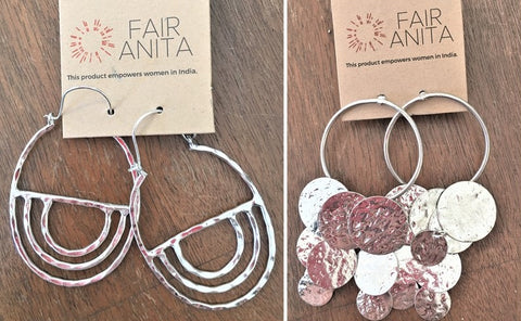 Silvery Dangle Earrings from Fair Anita available at Art 2 Heart Gift Shop in Hamel MN