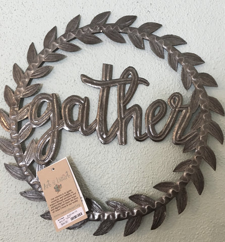 "Metal Art - ""Gather"" Wreath - from Art 2 Heart in Hamel MN"