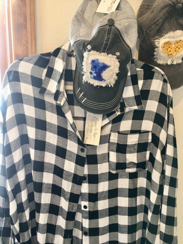 Buffalo Plaid Shirt and MN Cap from Art 2 Heart in Hamel MN