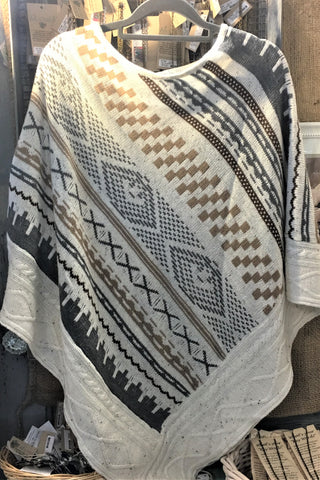 Gray-Brown Poncho at Art 2 Heart in Hamel MN