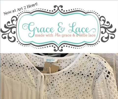 Grace and Lace Clothing is available at Art2Heart in Hamel MN