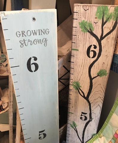 Wooden Growth Chart from Art 2 Heart Gift Shop in Hamel MN