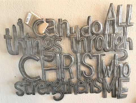 I Can Do All Things - Haiti Metal Art by Art2Heart in Hamel MN