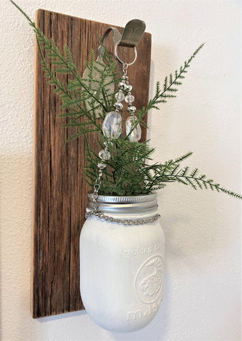 Mason Jar Vase on Barnwood from Art 2 Heart Gift Shop in Hamel MN
