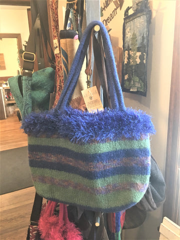 Felted Wool Tote - Sturdy yet soft to the touch - from Art to Heart in Hamel MN