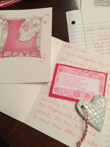 You can request a loving note and gift to be sent from Art2Heart's HEartReach